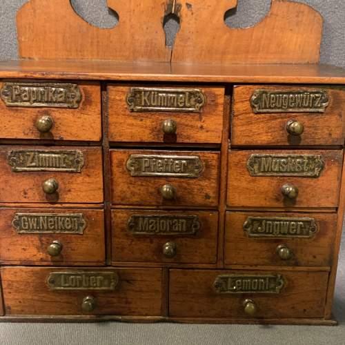 Vintage Wooden Spice Drawers image-2
