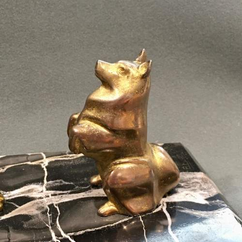 Art Deco Bronze of a Woman and a Dog image-5