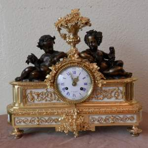 French Ormolu Clock by Vincenti