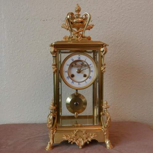 French Four Glass Clock with 8-day Striking Movement image-1