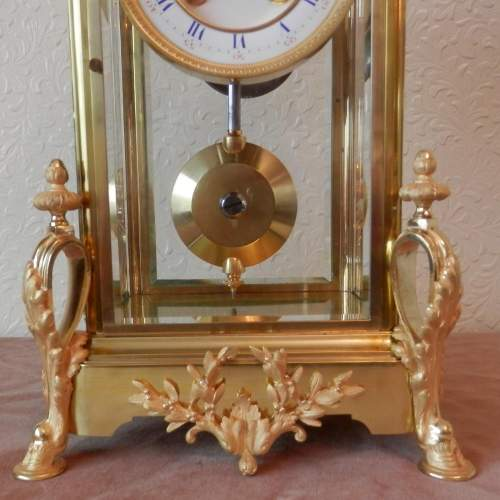 French Four Glass Clock with 8-day Striking Movement image-2