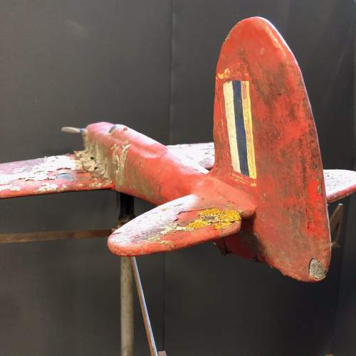 Vintage WW2 Aeroplane Weather Vane image-2