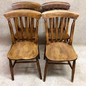 Set of Four Victorian Kitchen Chairs