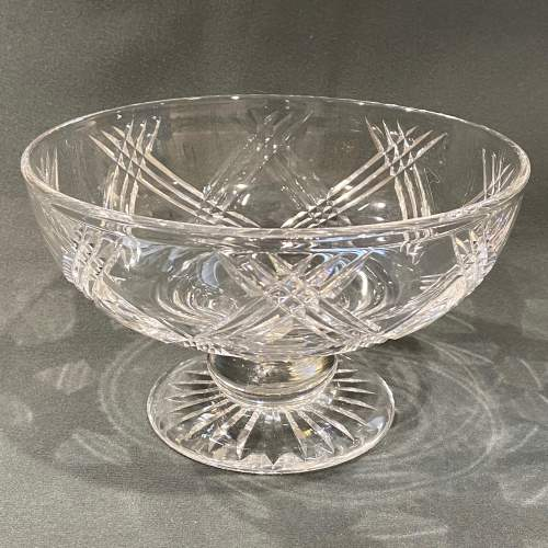 Stuart England Cut Crystal Bowl on Stand image-1