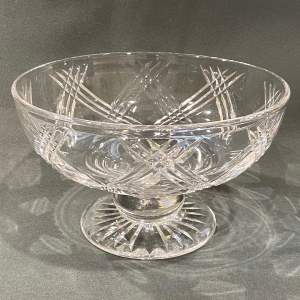 Stuart England Cut Crystal Bowl on Stand