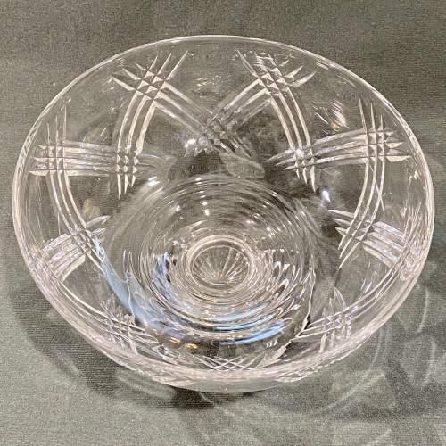 Stuart England Cut Crystal Bowl on Stand image-3