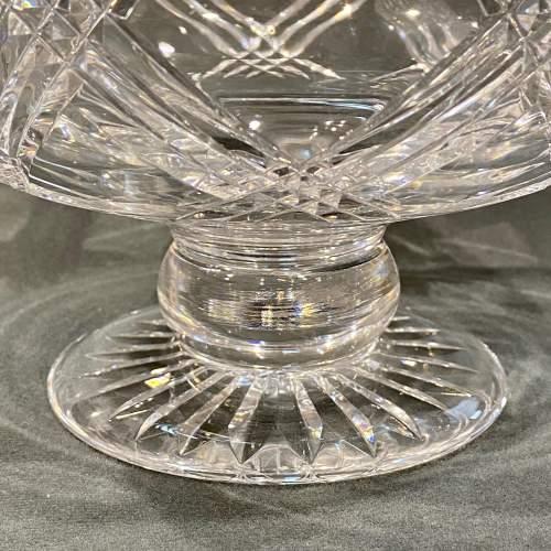 Stuart England Cut Crystal Bowl on Stand image-4