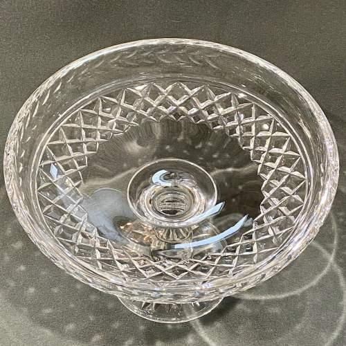 Stuart England Cut Crystal Tazza image-2