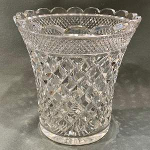 Large Cut Lead Crystal Vase