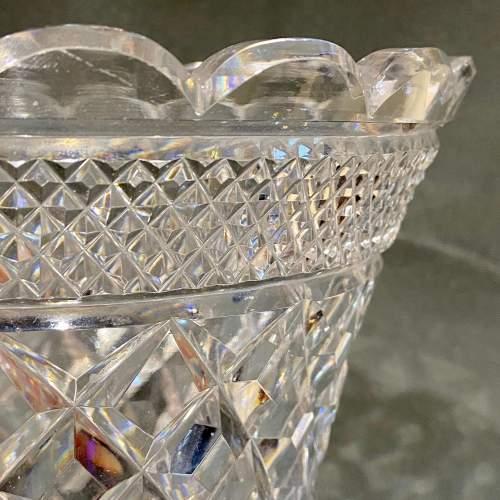 Large Cut Lead Crystal Vase image-2