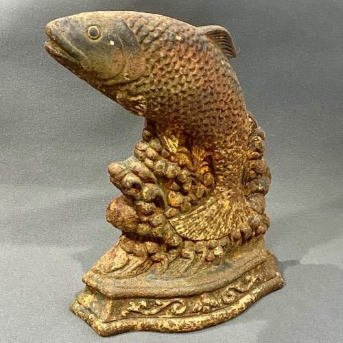 Victorian Cast Iron Fish Doorstop image-1