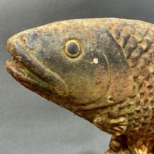 Victorian Cast Iron Fish Doorstop image-2