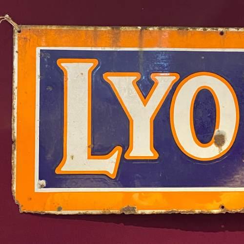 Large Vintage Lyons Tea Enamel Advertising Sign image-2