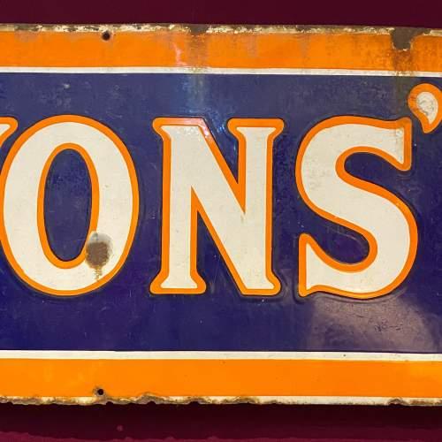 Large Vintage Lyons Tea Enamel Advertising Sign image-3