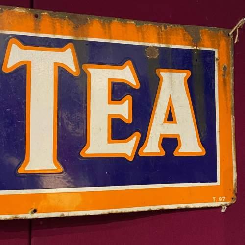 Large Vintage Lyons Tea Enamel Advertising Sign image-4