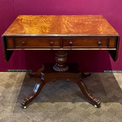 Victorian Mahogany Sofa Table by R.Wright of Hull image-1