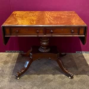 Victorian Mahogany Sofa Table by R.Wright of Hull