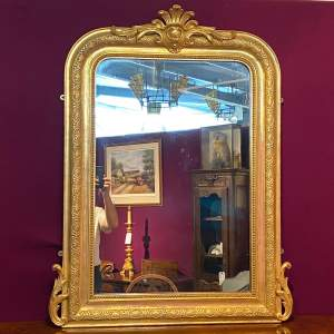 Antique French Louie Philippe Gilt Wall Mirror