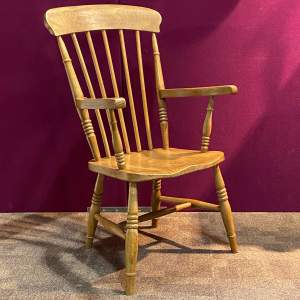 Victorian Ash and Beech Spindle Back Chair
