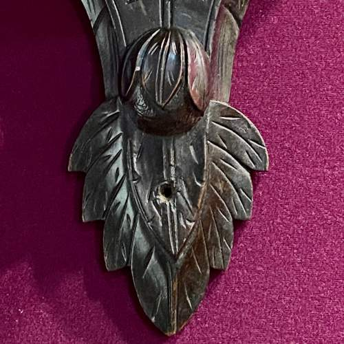 Pair of 19th Century Ebonised and Carved Wood Eagle Wall Brackets image-4