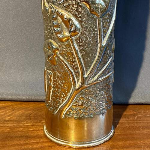 Pair of WWI Trench Art Brass Vases image-2