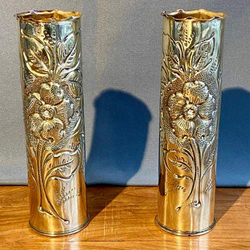Pair of Chateau Thierry Trench Art Vases image-1