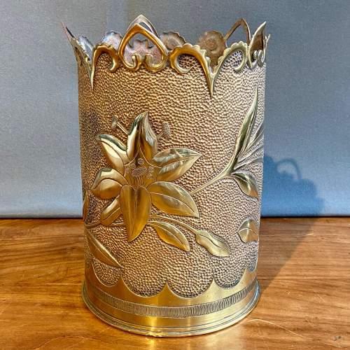 Large Trench Art Vase image-1