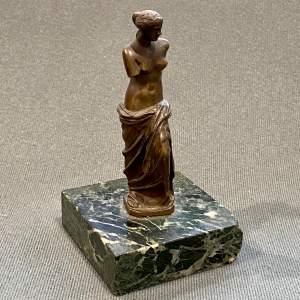 Small Bronze Venus de Milo After the Original Statue