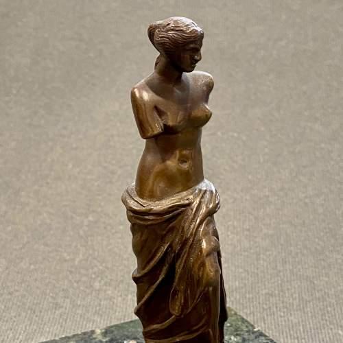 Small Bronze Venus de Milo After the Original Statue image-3