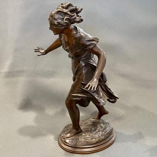 Late 19th Century Luca Madrassi Large Bronze Female Sculpture image-1