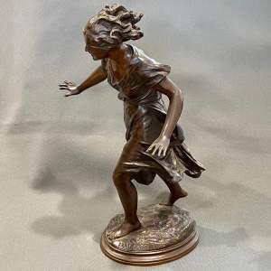 Late 19th Century Luca Madrassi Large Bronze Female Sculpture