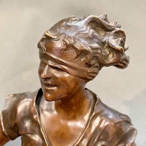 Late 19th Century Luca Madrassi Large Bronze Female Sculpture image-3