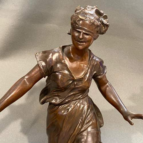 Late 19th Century Luca Madrassi Large Bronze Female Sculpture image-4