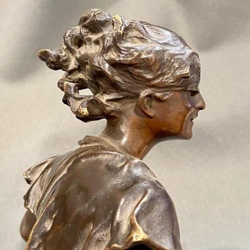 Late 19th Century Luca Madrassi Large Bronze Female Sculpture image-6