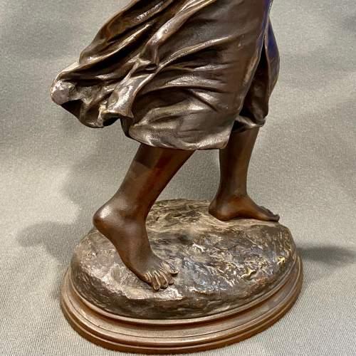 Late 19th Century Luca Madrassi Large Bronze Female Sculpture image-5