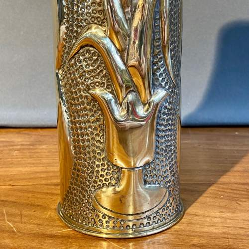 Pair of Trench Art Brass Vases image-3