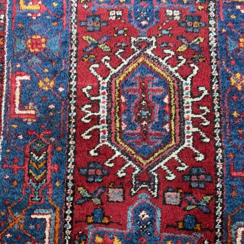 Stunning Old Hand Knotted Persian Runner Karaja Village Piece image-3