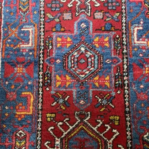 Stunning Old Hand Knotted Persian Runner Karaja Village Piece image-4