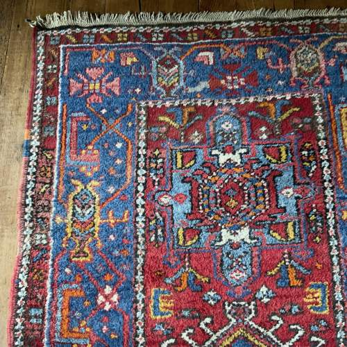 Stunning Old Hand Knotted Persian Runner Karaja Village Piece image-5