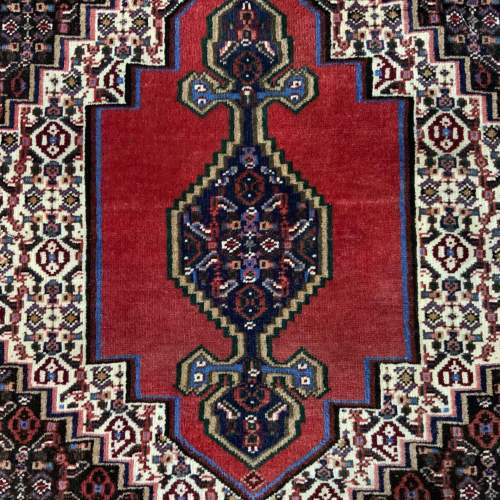 Superb Quality Hand Knotted Persian Rug Sennah Stunning Colours image-2