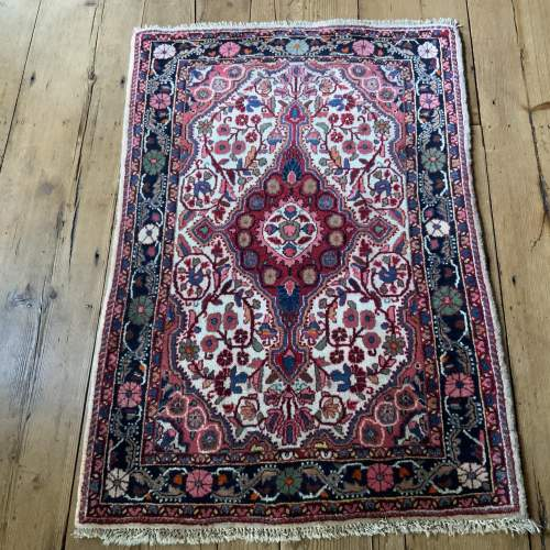 Superb Quality Hand Knotted Persian Rug Jozan Floral Medallion image-1