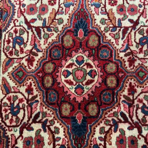 Superb Quality Hand Knotted Persian Rug Jozan Floral Medallion image-2
