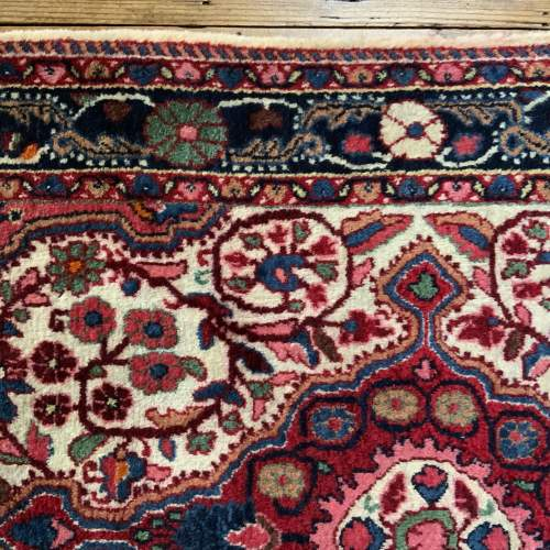 Superb Quality Hand Knotted Persian Rug Jozan Floral Medallion image-5
