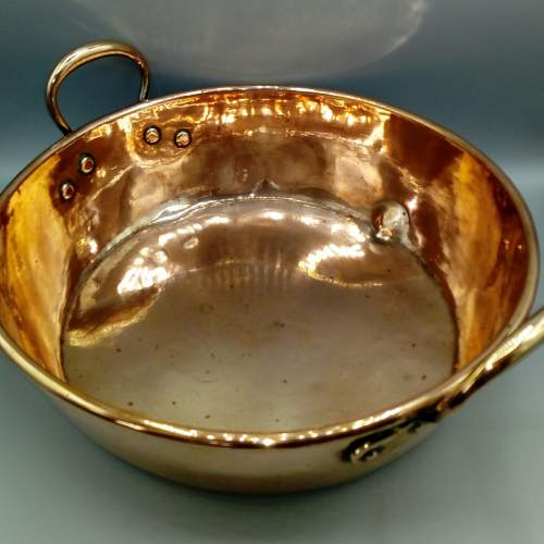 Large 19th Century Copper Pan image-3