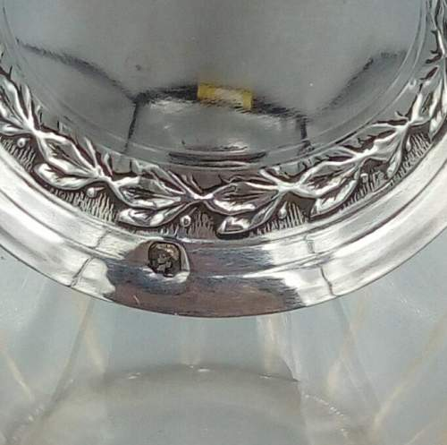 French Glass and Silver Perfume Bottle image-5