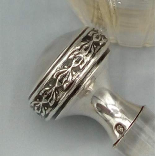 French Glass and Silver Perfume Bottle image-4