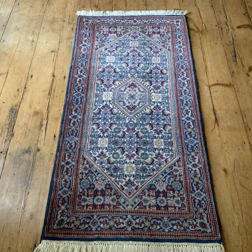 Lovely Old Hand Knotted Persian Rug Bidjar Unusual Colours image-1