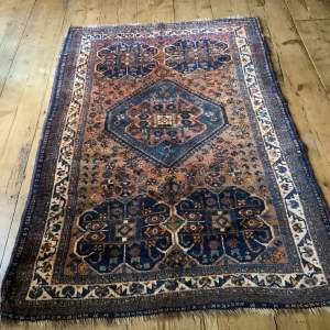 Old Hand Knotted Persian Rug Quashqui Superb Village Piece