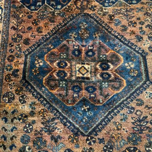Old Hand Knotted Persian Rug Quashqui Superb Village Piece image-2