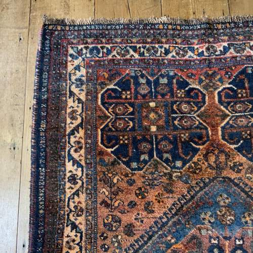 Old Hand Knotted Persian Rug Quashqui Superb Village Piece image-3